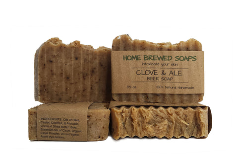 Clove & Ale Beer Soap (Set of 3 Bars)