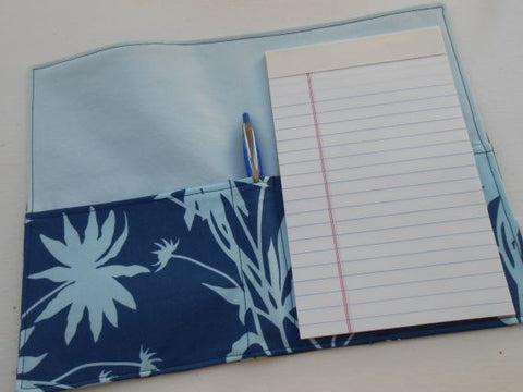 Fabric Folio in Blue Flowers by Pipsqueaks