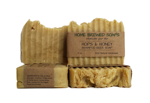 Hops & Honey Shampoo Beer Soap (set of 2)