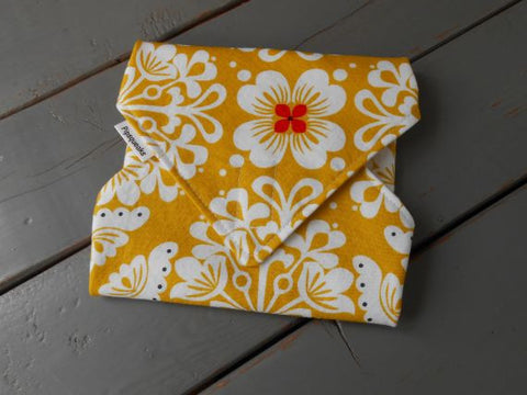 Orange and White Flower Reusable Sandwich Wrap by Pipsqueaks