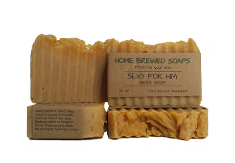 Sexy for Him Beer Soap (Set of 3 Bars)