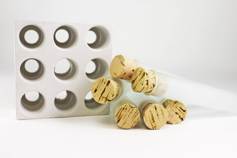 CULINARIUM SPICE SET TUBES WITH CONCRETE BASE