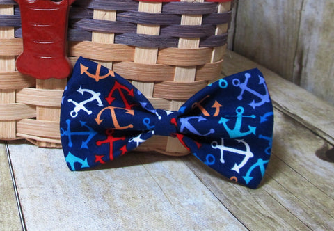 Tossed Anchors Pre Tied Bow Tie