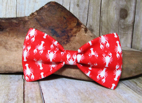 White Lobsters Pre Tied Bow Tie