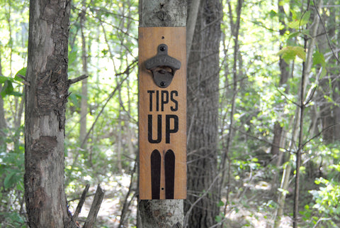 """Tips Up wall"" mounted bottle opener"