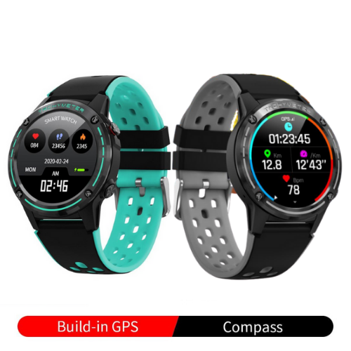 Fuchusi M6C GPS Tracker Fitness Smart Watch | Calories, BP, Heart Rate, Sports Modes