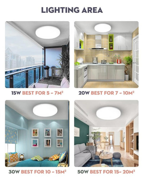 fuchusi scope LED thin ceiling light in different rooms