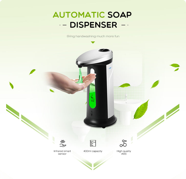 Fuchusi 400ML Touchless Liquid & Soap dispenser