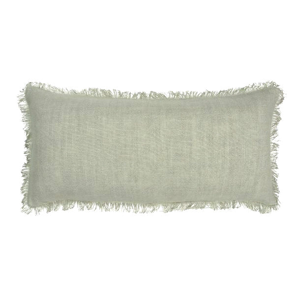 Linen Long Rectangle Cushion - Parchment