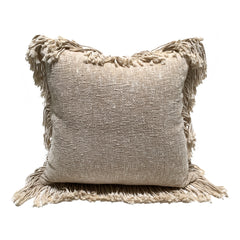 Natural Fringe Cushion - Square