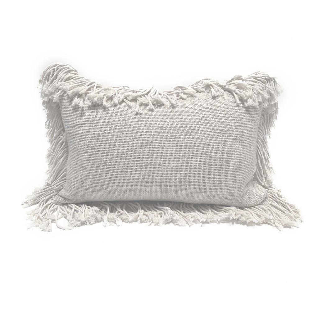 Natural Fringe Cushion - Rectangle