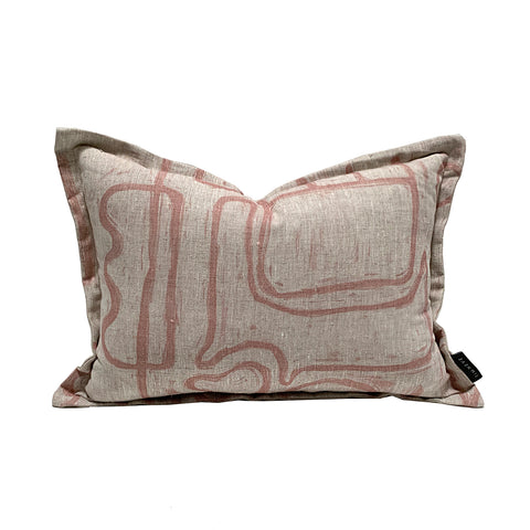 Abstract Cushion - Nude Oatmeal