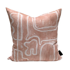 Abstract Cushion - Nude