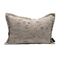 Faces Cushion - Mono