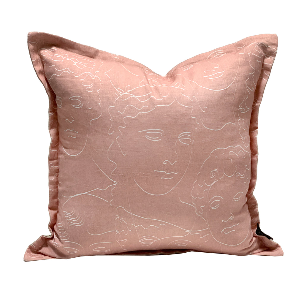 Faces Cushion - Nude
