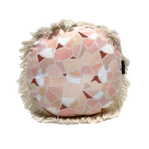 Mosaic Round Cushion - Earth