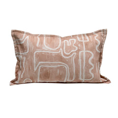 Abstract Pillowcase - Nude