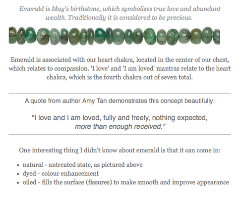 May 2021 Newsletter, Emerald and Heart Chakra, Gem's News
