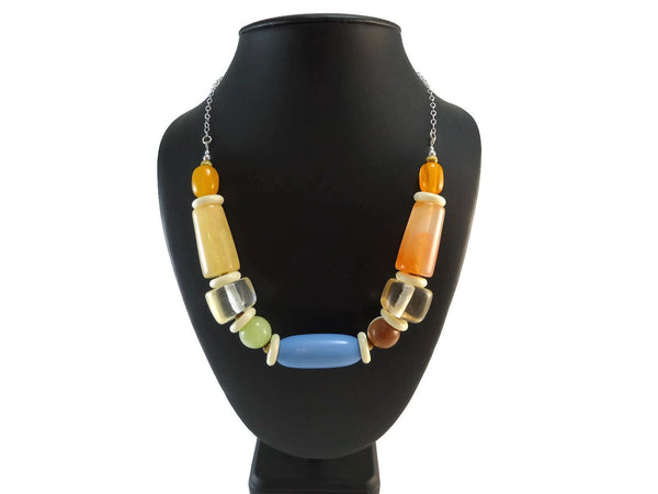 Chunky Resin Chain Necklace 925 - Augmented Gem Jewelry