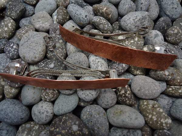 Large Copper Barrette - Augmented Gem Jewelry