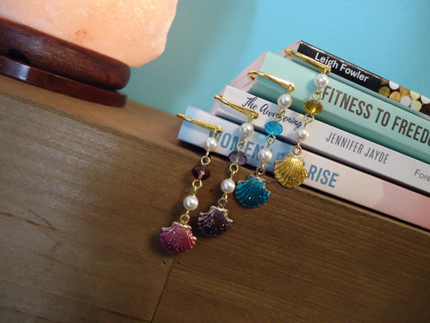 Mini Bookmark Sparkle Shell - Augmented Gem Jewelry