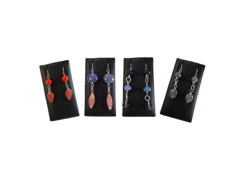 Orange and Blue Earrings 925 - Augmented Gem Jewelry