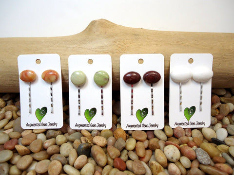 Pebble Bobby Pins Set of Two - Augmented Gem Jewelry