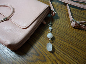 Quartz Bag Charm Pale Pink - Augmented Gem Jewelry