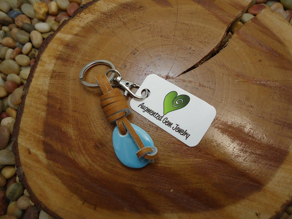 Small Porcelain Drop Keychain - Augmented Gem Jewelry