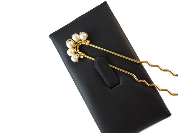Swarovski Pearl Hair Pin Set - Augmented Gem Jewelry