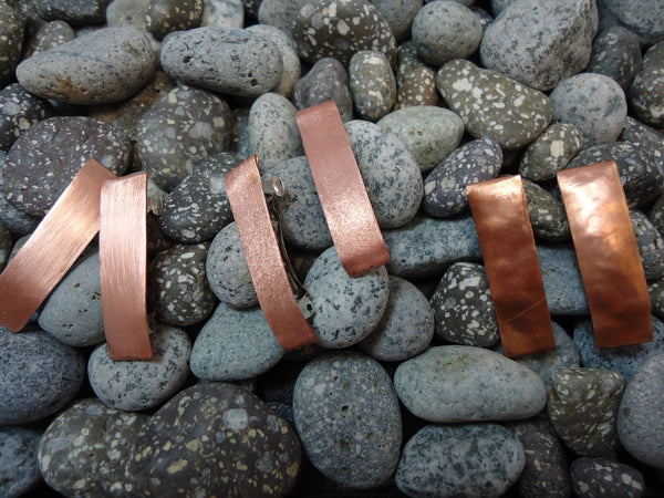 Tiny Copper Barrette Set - Augmented Gem Jewelry