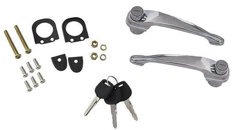 Complete Locking Door Handle Set with Keys - Fits Pre-A 356/356A/356B/356C