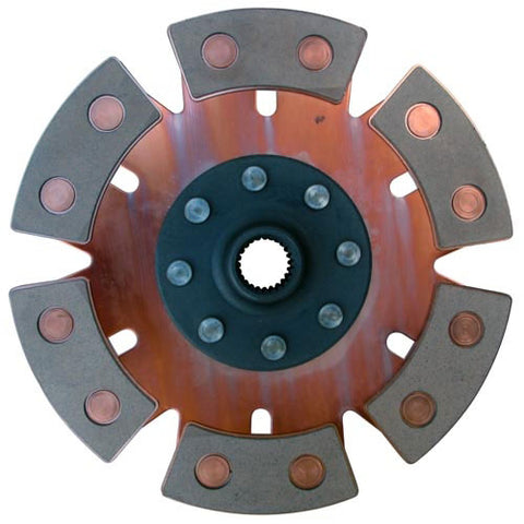 200mm Clutch Disc - 6 Puck - Solid Center - RACING CLUTCH
