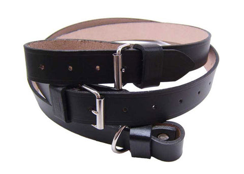Black Leather Interior Luggage Strap For 356 and 911 912 up 1973 - Set of Two - Replaces 64455531100