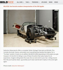BOLDRIDE & YAHOO NEWS FEATURE - April 2015 - Perfect 550 Spyder For You - Seduction Motorsports