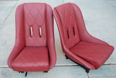 550 Spyder - Seat Upholstery - R.R. Red Leather
