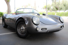Seduction Motorsports 550 Spyder Outlaw - Meteor Grey Metallic/Red Leatherette - Porsche Type IV Aircooled - Seduction Motorsports