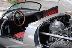 Seduction Motorsports 550 Spyder Outlaw - Meteor Grey Metallic/Red Leatherette - Porsche Type IV Aircooled