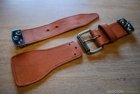 Spyder Rear Clamshell Leather Belt Straps - Seduction Motorsports