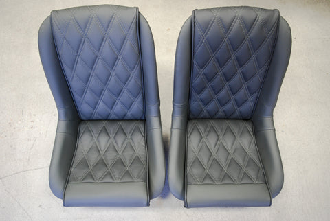 550 Spyder - Seat Upholstery - Dark Pewter Leather - Seduction Motorsports