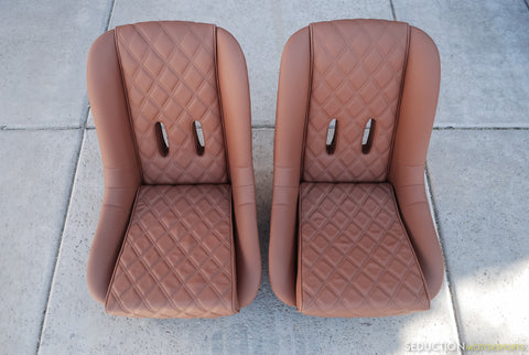 550 Spyder - Seat Upholstery - Caramel Toffee Leatherette - Seduction Motorsports