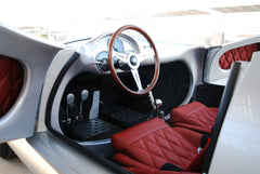 Seduction Motorsports 550 Spyder - Silver Metallic/Red Leatherette - Subaru 2.5L NA