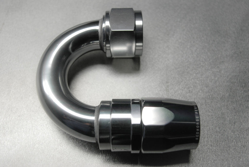 -16 180 Degree Swivel-Seal Female Aluminum Hose End - Clear - Redhorse Performance - Seduction Motorsports