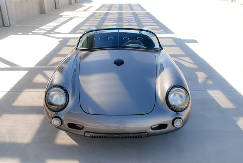 Seduction Motorsports 550 Spyder Outlaw - Meteor Grey Metallic/Black & Silver Alcantara - Porsche Type IV Aircooled