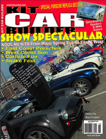 Kit Car Builder Magazine - August 2013 - Seductive Spyder