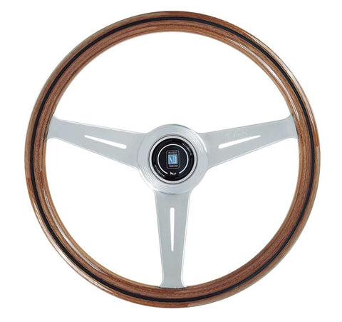 Nardi Steering Wheel - Classic Wood with Polished Spokes - 360mm