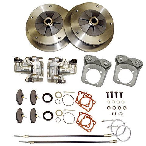 Complete Deluxe Rear Disc Brake Kit - Wide-5 (5x205mm) - Zero Offset - w/Parking Brake - Swing Axle