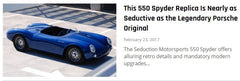 Robb Report Magazine - February 2017 - This 550 Spyder Replica Is Nearly as Seductive as the Legendary Porsche Original