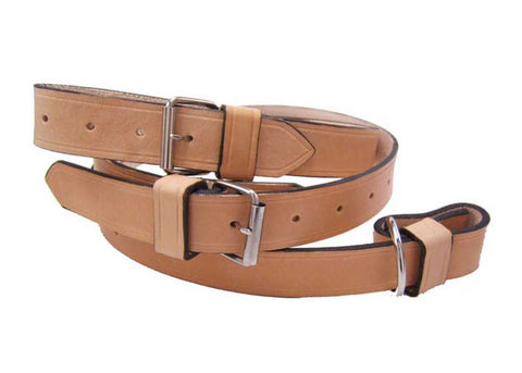 Tan Leather Interior Luggage Strap For 356 and 911 912 up 1973 - Set of Two - Replaces 64455531100