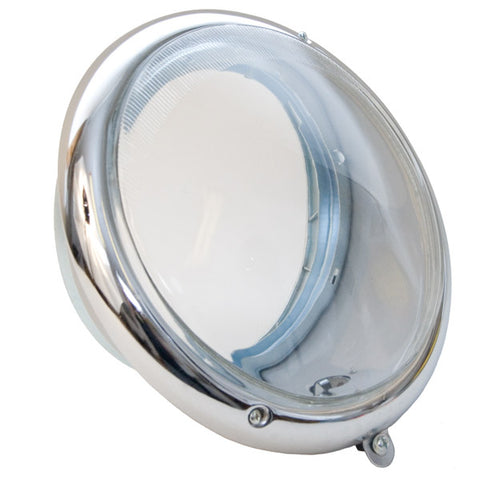 Complete Headlight Assembly - Flat Euro Glass Lens